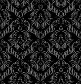 Vector decorative royal seamless floral ornamental texture poster