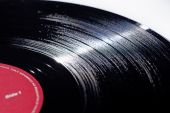 Old Black Long playing Vinyl music record poster
