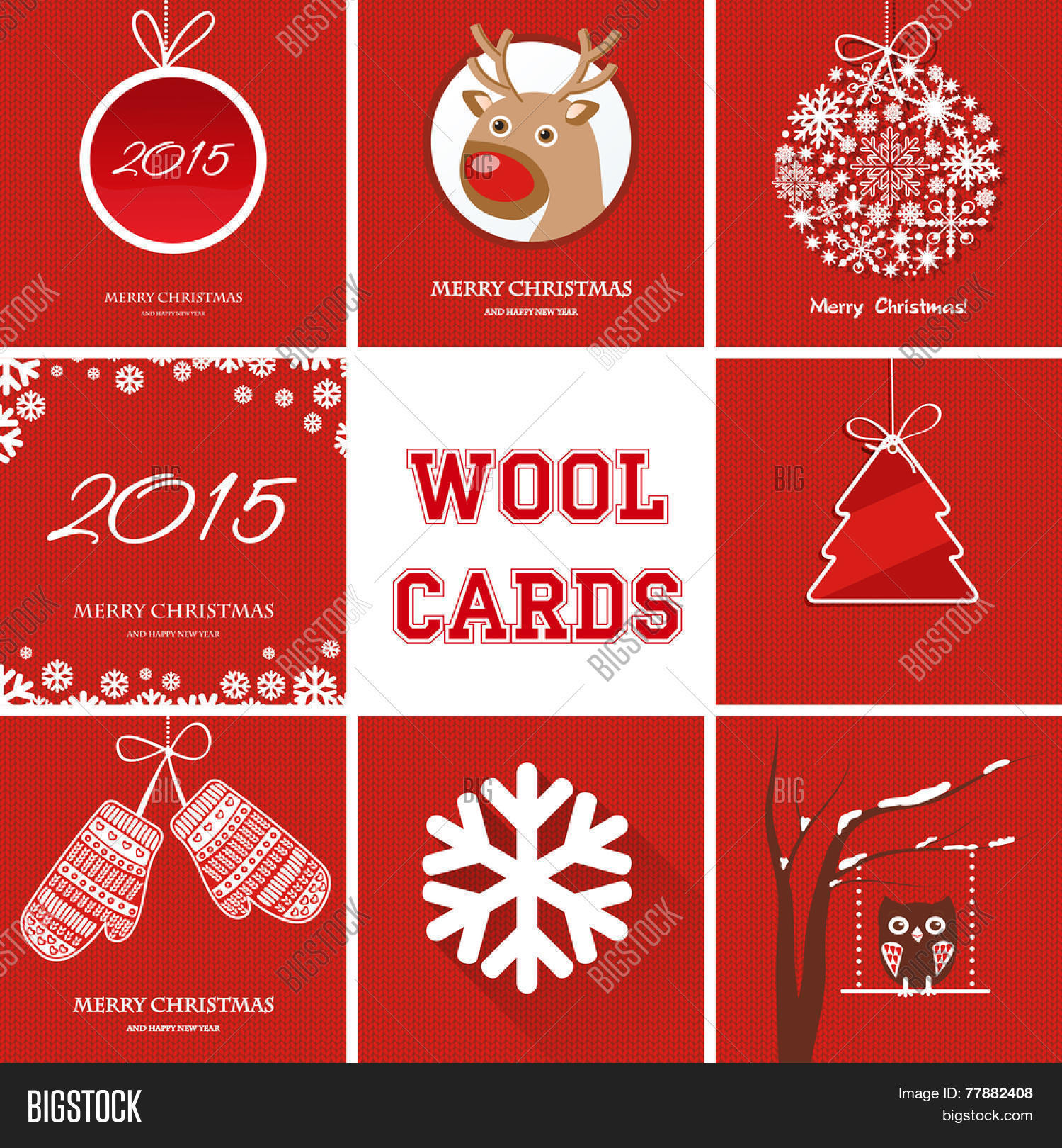 Christmas Cards Set Vector & Photo (Free Trial) | Bigstock