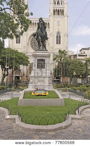 Statue Of Simon Bolivar In Ecuador
