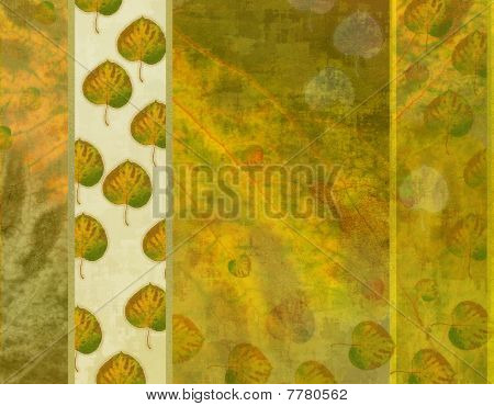 Autumn leaves poster texture