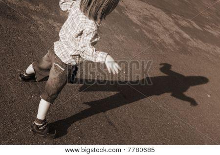 Child Shadow Silhouette