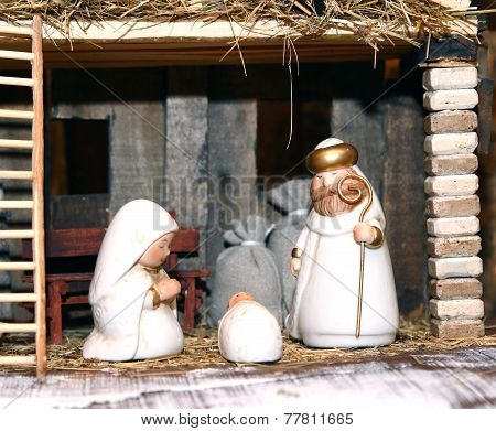 Nativity Statues With The Holy Family