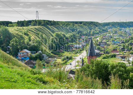 Panin hillock. Down town of Tobolsk, Russia