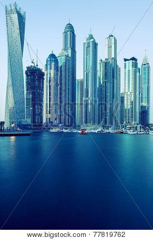 Dubai Marina, Special Photographic Processing