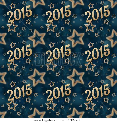 New Year On The Night Stars Seamless Pattern 2
