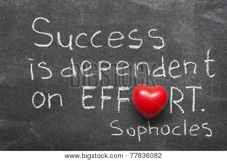 Success Is Dependent