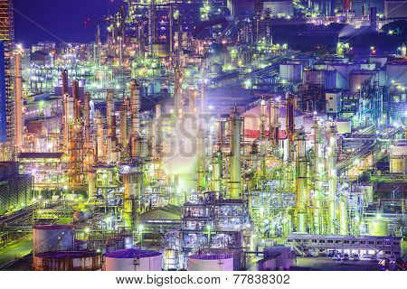 Chemical plants in Yokkaichi, Japan.