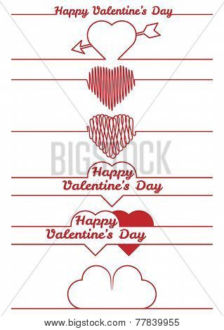 valentines day design elements - dividers