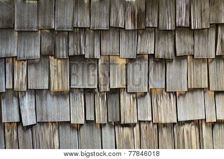 background of weathered wood shingles