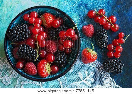 Summer Berries In Bowl