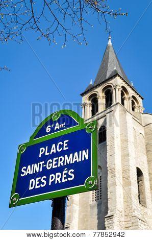 Saint-Germain des Pres square in Paris, France