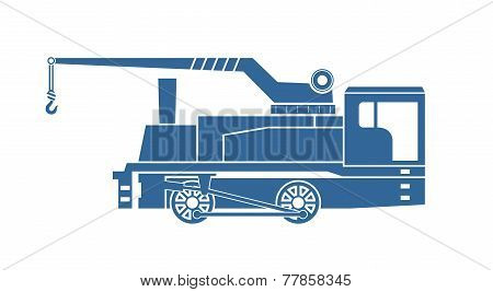 Crane Tank. Steam Locomotive