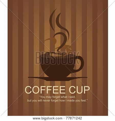Vintage Coffee Cup Illustration