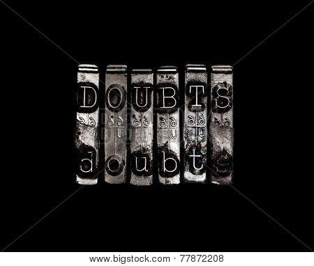 Doubt Or Doubts Concept