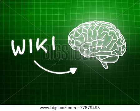 Wiki Brain Background Knowledge Science Blackboard Green