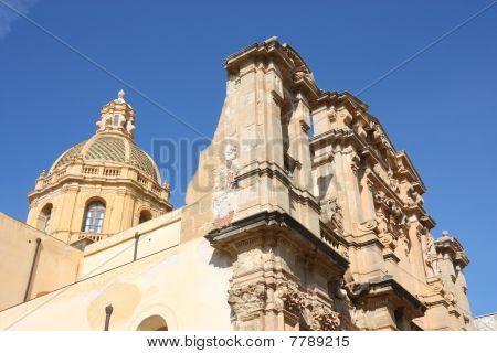 Marsala in Sicily Italy. Old landmark - Chiesa del Purgatorio (Church of Purgatory). poster