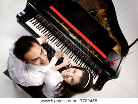 Couple With Grand Piano 6