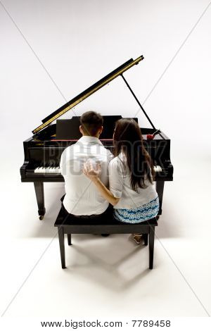 Couple With Grand Piano 1
