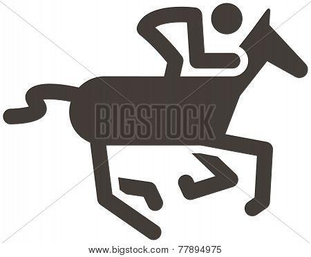 The single Summer sport icon - equestrian icon poster