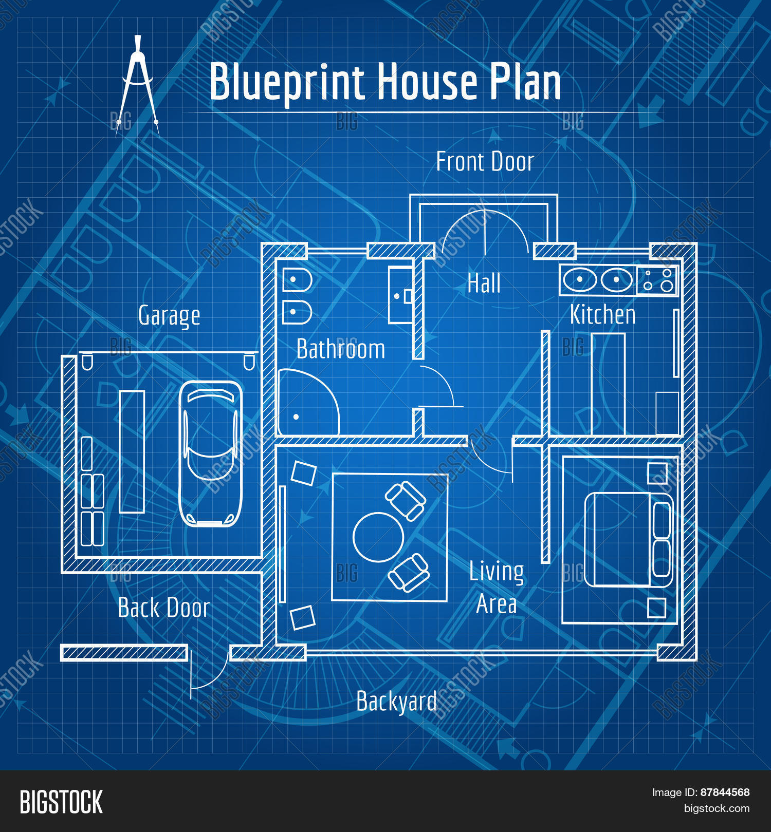 Blueprint House Plan Vector & Photo (Free Trial) | Bigstock on free house drawing, modern home design plans, free land, floor plans, free toys, free blueprints, free house agreements, free marriage, free lifestyle, free home, free house models, free printable notebook planner, free clip art black and white house, free business, free house values, extreme makeover home plans, free modern houses, free house ideas, building plans, free house budget,