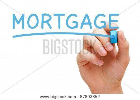 Mortgage Blue Marker