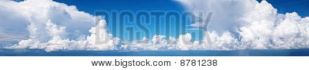 Panorama Sky and cloud / with rain fall / high resolution