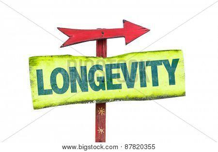 Longevity sign isolated on white