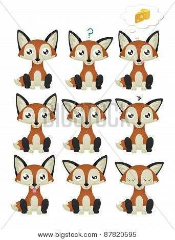 Fox Emoticon Set