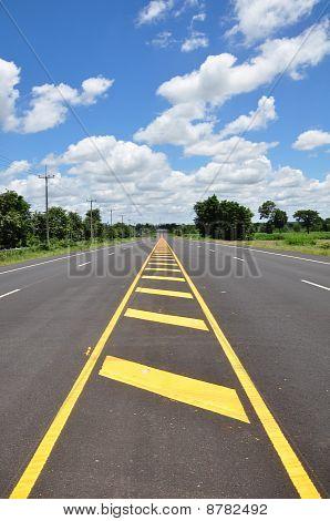 Asphalt Road With blue Sky