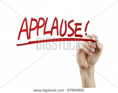 Applause Word Written By Hand