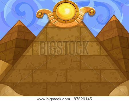 Background pyramids. Vector illustration