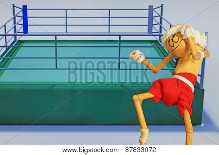 Hand Made Figure Imitating Thailand Boxer Muay Thai