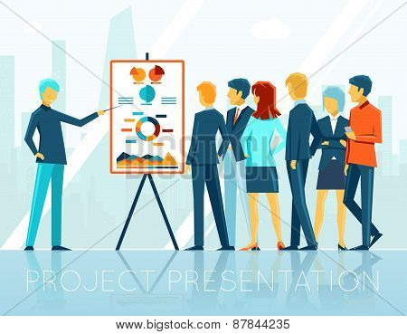 Business meeting, project presentation