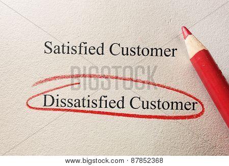 Dissatisfied Customer
