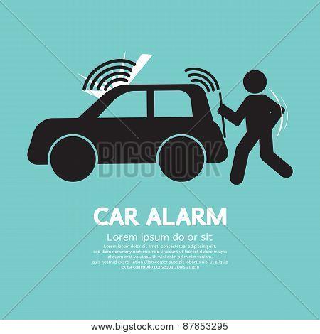 Car Alarm Piracy Prevention Symbol Vector Illustration. EPS 10 poster