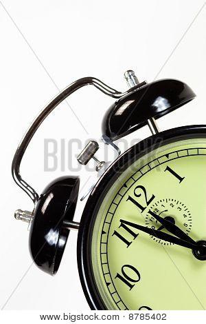 Dutch Angle Of Black Alarm Clock