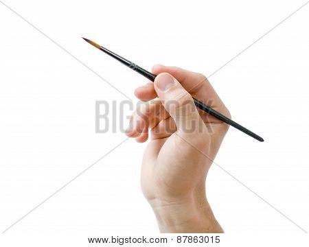 Hand Holding Paint Brush