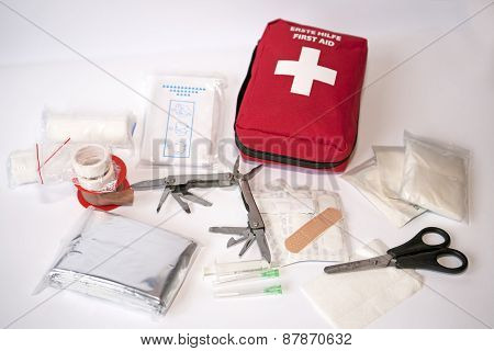 Open First Aid Kit