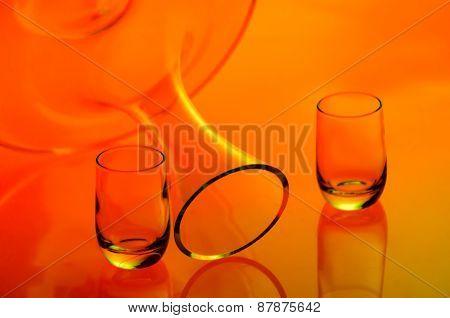 Set of glass bottles (2)