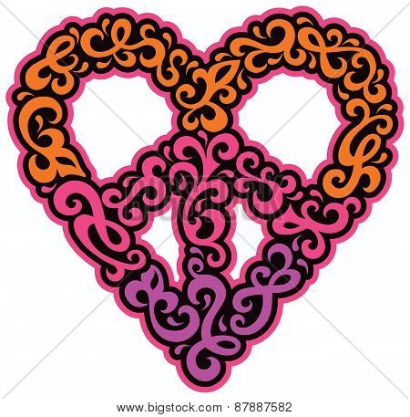 Swirly Peace Heart