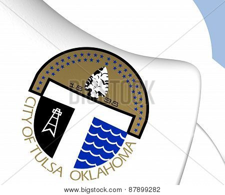 Flag Of Tulsa, Usa.