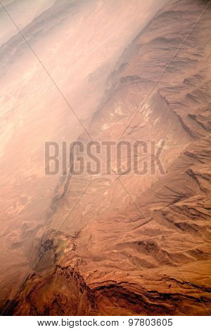 Martian style red planet mountain landscape