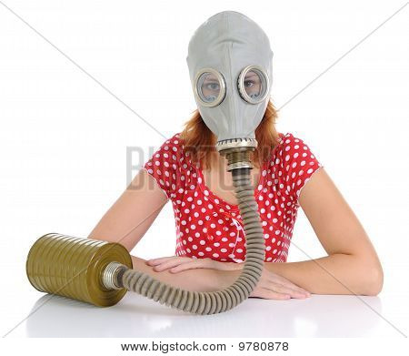 The Person With Gas Mask