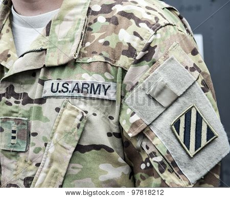 Stripe With A Velcro The 3Rd Infantry Division