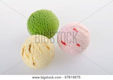 Ice Cream Scoop. Ice Cream On The Background.
