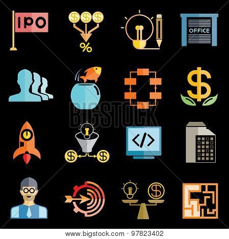start up business icons