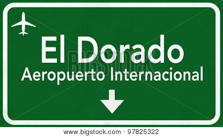 Bogota Colombia International Airport Highway Sign