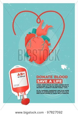 Vector illustration of creative donor poster.