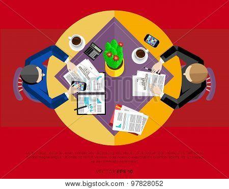 Teamwork people partnership and teamwork business community concept. Cartoon teamwork people characters. Social network of teamwork people. Social media and social network people connect. Teamwork people together vector. Business team and teamwork concept poster